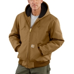 Carhartt J140 Duck Active Jac/Quilted-Flannel Lined J14000